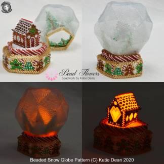 Snow globe beading tutorial by Katie Dean, Beadflowers