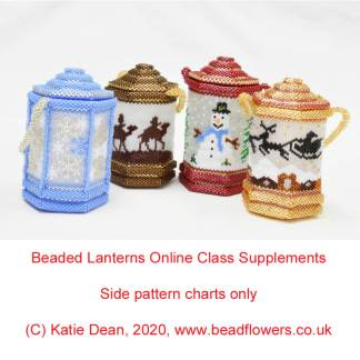 Beaded Christmas Lanterns, Katie Dean, Beadflowers
