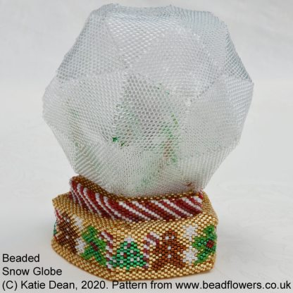 Snow globe beading tutorial by Katie Dean, Beadflowers