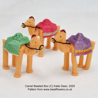 Camel Beaded Box Pattern, Katie Dean, Beadflowers