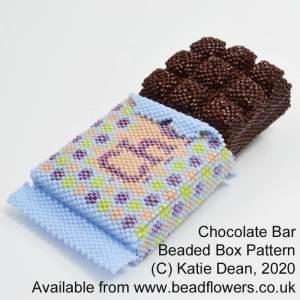 Chocolate bar beaded box pattern, Katie Dean, Beadflowers