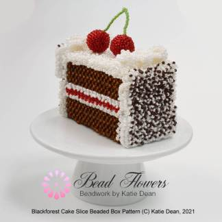 Blackforest cake slice beaded box, Katie Dean, Beadflowers