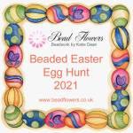 Beaded Easter egg hunt, 2021. Katie Dean, Beadflowers