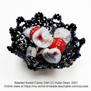 Beaded sweet candy dish, Katie Dean