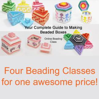 Complete guide to beaded boxes online course from Katie Dean