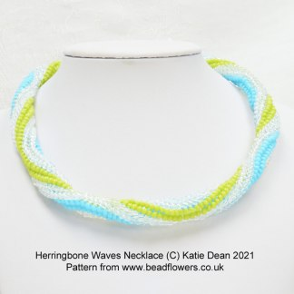 Herringbone Waves Necklace pattern, Katie Dean, Beadflowers