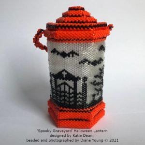 Diane Young Spooky Graveyard Halloween Lantern, design by Katie Dean