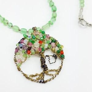 swinging tree necklace