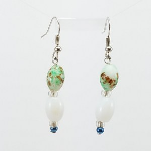 Spotted bead earrings