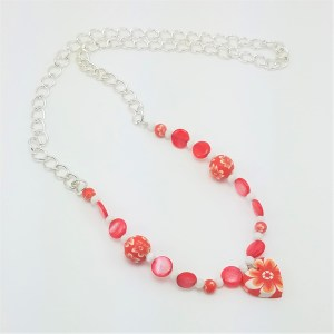 flower child heart necklace