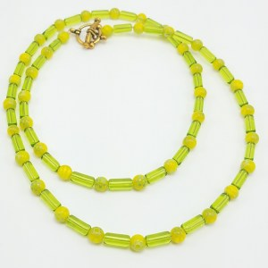 beaded key lime necklace