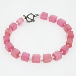 cubes of pink bracelet