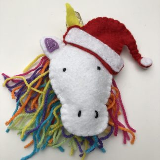 felt christmas unicorn