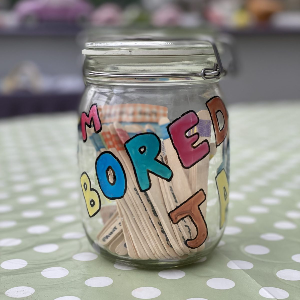 the bored jar cover