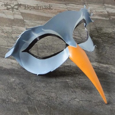 leather heron mask