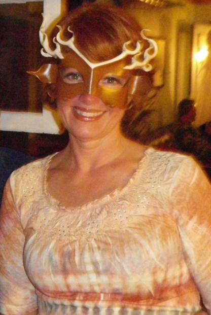 leather deer mask