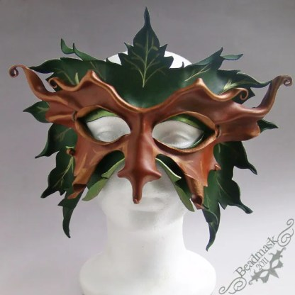 Great Greenman layered leather mask