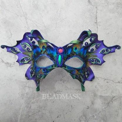 purple leather butterfly mask