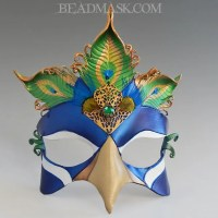 Jeweled Peacock Mask