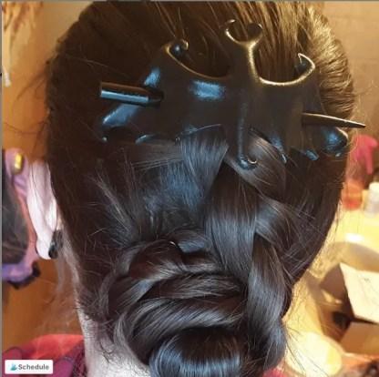 leather bat hair stick