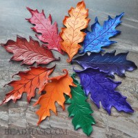 leather oak leaves