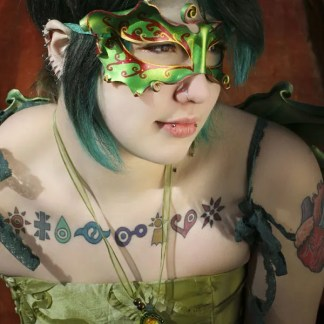 leather fairy mask