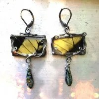 butterfly wing earrings