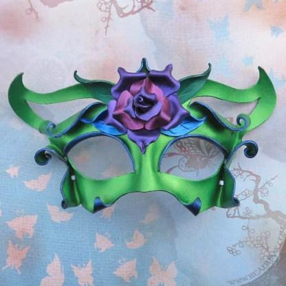 garden fairy leather mask