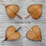 autumn gold birch leaf hair stick colors