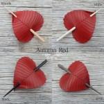 autumn red birch leaf hair stick colors