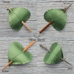 olive green birch leaf hair stick colors