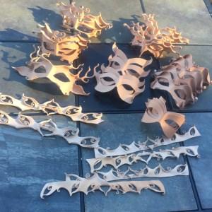 leather masks in progress