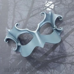 silver crone leather mask