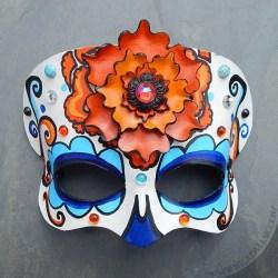 Marigold calavera mask