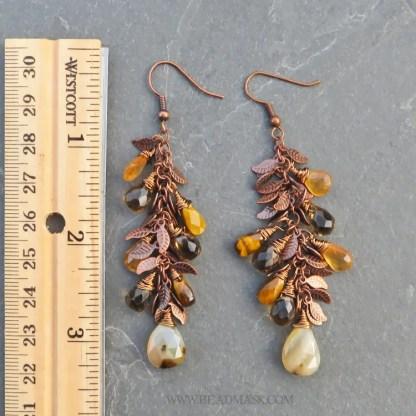 faceted gemstone dangle earrings