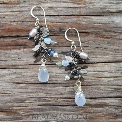moon garden earrings