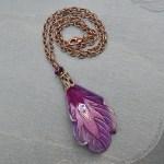 purple-peacock-feather-pendant
