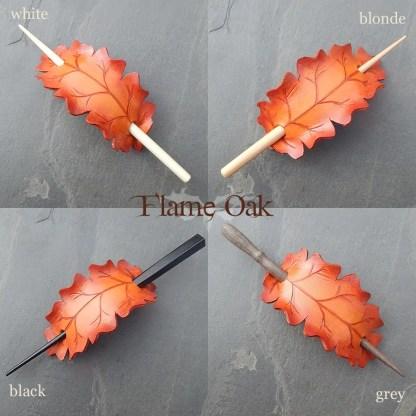 oak leaf hair slides