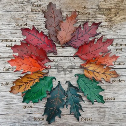oak leaf hair barrettes