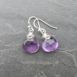 faceted ametrine teardrop earrings with sterling silver