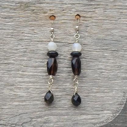 Smoky quartz earrings