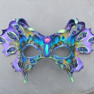 Mixed media leather butterfly mask