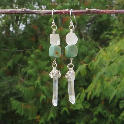 sterling silver and turquoise dangle earrings