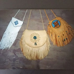 handcrafted beaded buckskin bags circa 1994