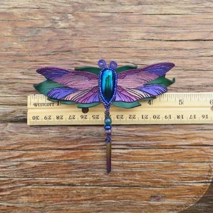 purple dragonfly barrette