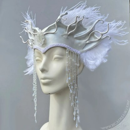 sculpted leather costume crown