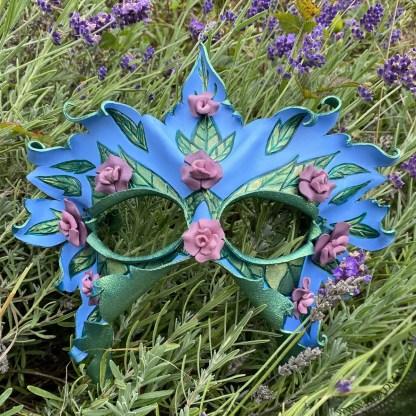 spring blossom leather mask