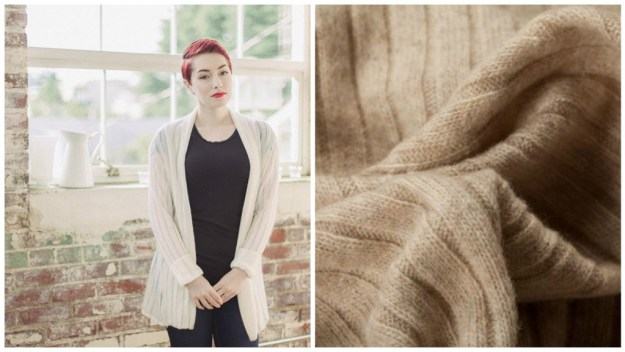I'm thinking the Oslo Cardigan in this Wool Rib Knit...