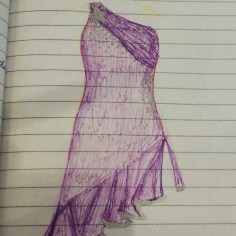 Purple Latin Dress