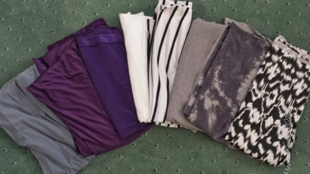 The week started off well with a delivery of fabric from Tia Knight. The three on the left were for the Latin dresses and the ones on the right are for me :)